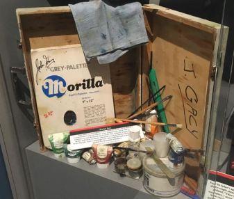 A paint kit that belonged to John Wayne Gacy.